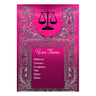 LEGAL OFFICE, ATTORNEY Monogram ,pink Business Cards