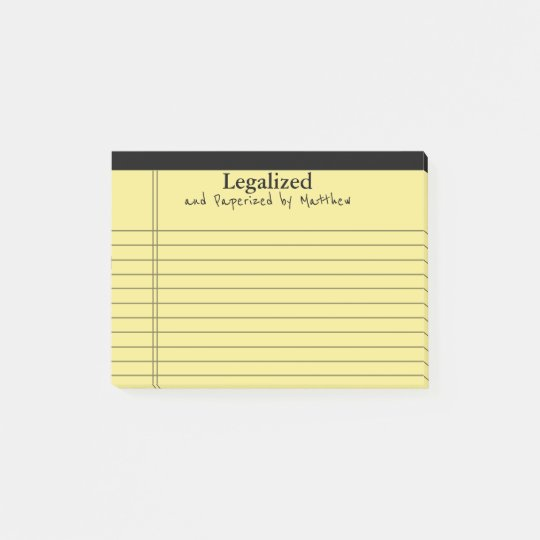 Legal Pad Means It's Legal and Personalised Post-it