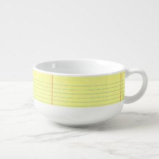 Legal Pad Pattern Soup Mug