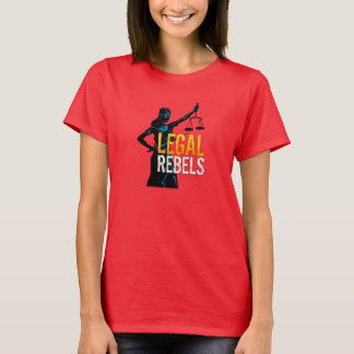 Legal Rebels Lady Justice with Custom Type Tee