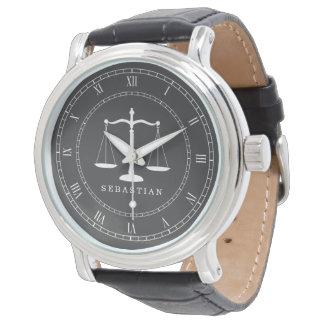 Legal Scales Custom Name Lawyer Wrist Watch