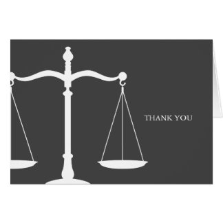 Legal Scales Elegant Law Themed Greeting Card