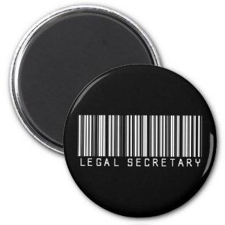 Legal Secretary Bar Code 6 Cm Round Magnet