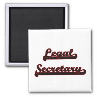 Legal Secretary Classic Job Design 2 Inch Square Magnet