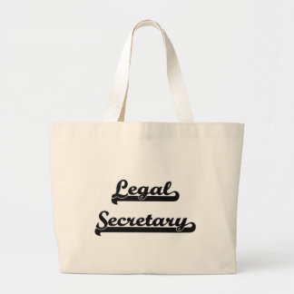 Legal Secretary Classic Job Design Jumbo Tote Bag