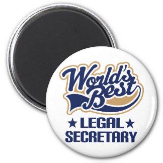 Legal Secretary Gift 6 Cm Round Magnet