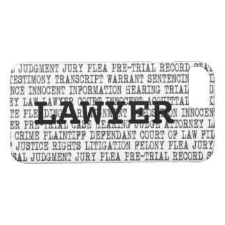Legal Terminology Custom Phone Case