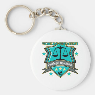 Legal World's Greatest Paralegal Specialist Basic Round Button Key Ring