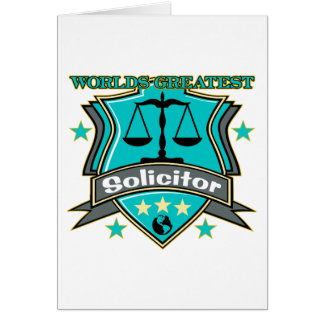 Legal World's Greatest Solicitor Card