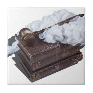 LegalBooksJudgeWigGavel042113.png Ceramic Tile