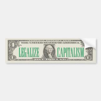 Legalise Capitalism Bumper Sticker