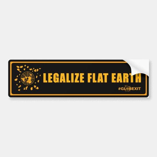 Legalise Flat Earth Bumper Sticker (black&orange)