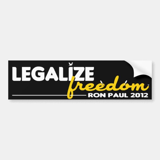 Legalise Freedom Bumper Sticker