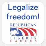 Legalise Freedom RLC stickers