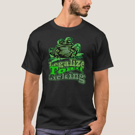 Legalise Toad Licking (Dark Apparel) T-Shirt