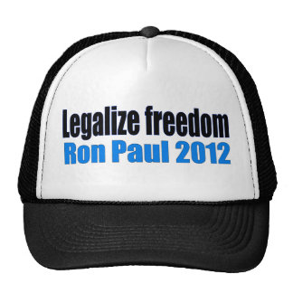 Legalize Freedom Ron Paul 2012 Mesh Hat