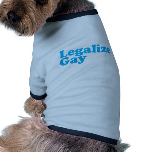 Legalize gay baby blue dog tee shirt