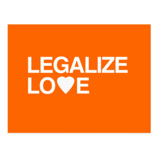 LEGALIZE LOVE POSTCARD