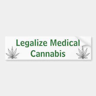 Legalize Medical Cannabis Bumper Sticker