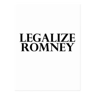 Legalize Romney Postcard