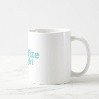 Legalize straight blue basic white mug