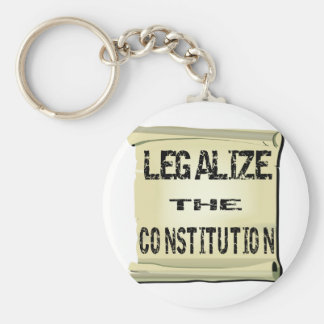Legalize The Constitution Basic Round Button Key Ring