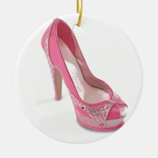 legally pink shoes christmas ornament