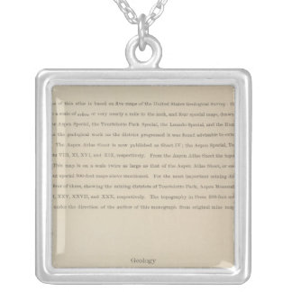 Legend Atlas to the Geology Of The Aspen District Silver Plated Necklace
