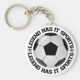 Legend Has It Sports Soccer Basic Round Button Key Ring