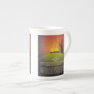 Legend of Saint Patrick and the Paschal Fire Porcelain Mugs