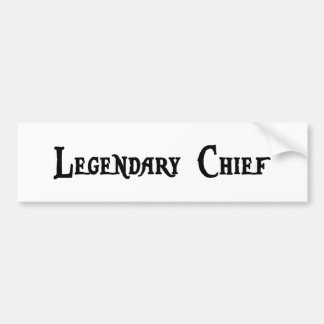 Legendary Chief Sticker Bumper Sticker