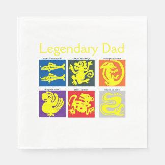 Legendary Dad Luncheon Napkins Paper Serviettes