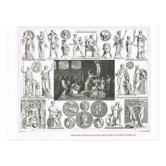 Legendary figures from Greek and Roman Mythology Postcard