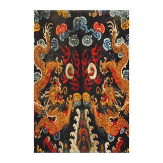 Legendary Ghost Samurai Dragon Master Canvas Print