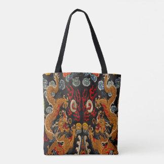 Legendary Ghost Samurai Dragon Master Tote Bag