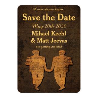 Legendary Love Gay Wedding Save the Date Card 11 Cm X 16 Cm Invitation Card