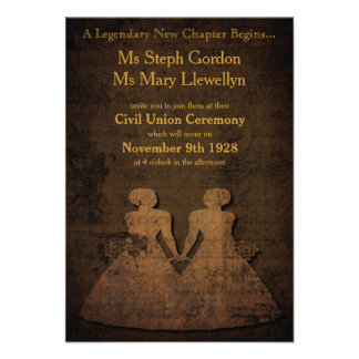 Legendary Love Lesbian Wedding Invitation