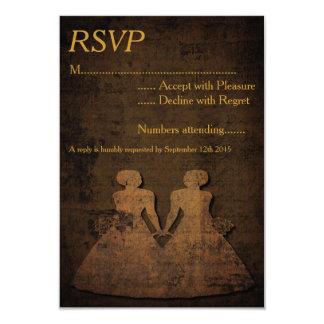 "Legendary Love Lesbian Wedding RSVP 3.5"" X 5"" Invitation Card"
