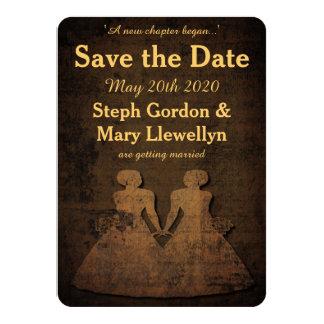 Legendary Love Lesbian Wedding Save the Date Card 11 Cm X 16 Cm Invitation Card