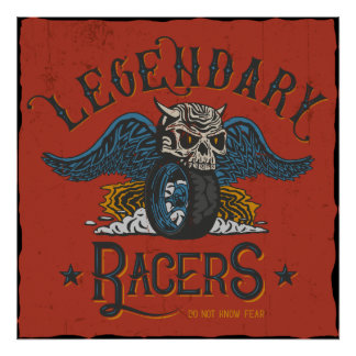 Legendary Racers Wallart Poster