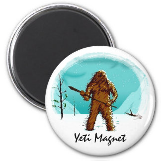 Legendary Yeti Bigfoot Big Foot Gifts Customize 6 Cm Round Magnet