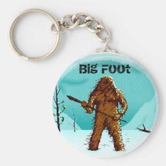 Legendary Yeti Bigfoot Big Foot Gifts Customize Basic Round Button Key Ring