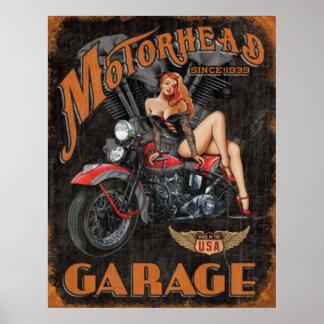 Legends - Motorhead Garage Poster