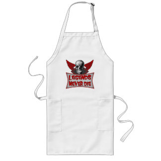 Legends Never Die Biker T-shirts and Gifts Long Apron