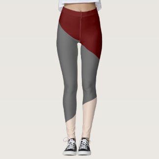 Legging Abstracts Bordeaux/Gris/Beige