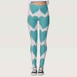 Legging Design heart Flower