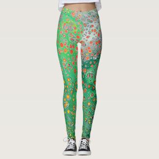 Leggings - Abstract Design - Spring Meadow