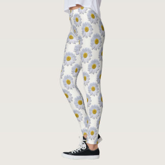 Leggings - All Over - New Daisies On Off White