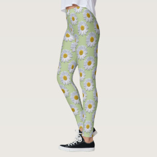 Leggings - All Over - New Daisies On Sage