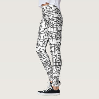 Leggings Geometric #318 Black & White